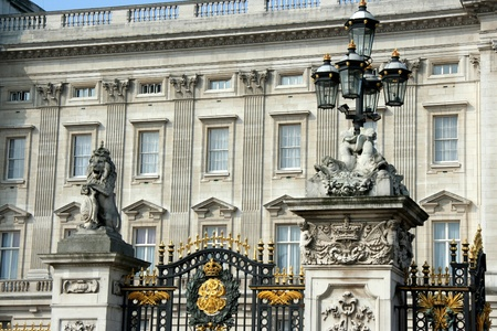 London, England, June 2007 - Ornate gates in front of Buckingham Palace