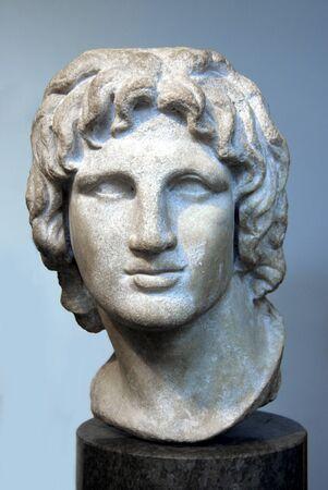 Londýn, Anglie, červen 2007 - Ancient busta Alexandra Velikého v Britském muzeu Redakční