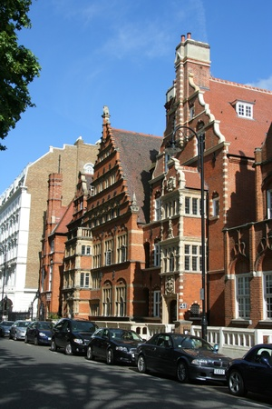London, England, June 2007 -  Townhouses in upper class Kensington in ornately decorated old buildings Stock Photo - 10303004