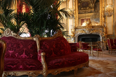 salon: Paris, France, July 2009 - Louvre Museum, Grand Salon of the Apartments of Napoleon III