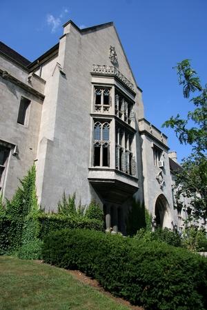 Chicago, USA - August 2006 -  University of Chicago Gothic limestone building on 59th street (Ida Noyes Hall)