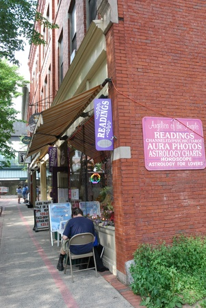 astrologer: Salem, Massachusetts, July 2008 - street with occult and magic shops