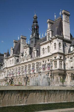 ville: Paris, France, July 2009 - Baroque architecture of City Hall, known as Hotel de Ville