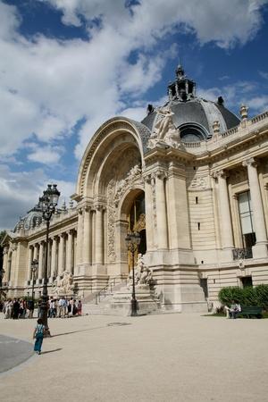 petit: Paris, France, July 2009 - entrance to Petit Palais art gallery and exhibition hall