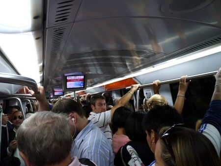 Rome, Italy, October 2011 - Rome has one of the most crowded and inconvenient subway systems in Europe Sajtókép