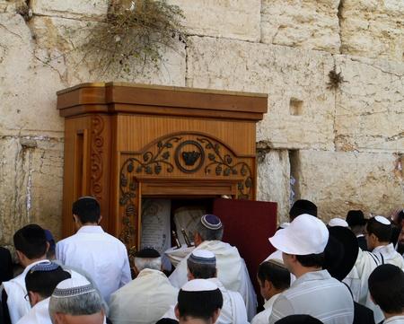 Jerusalem, Israel October 2011 - Jewish Prayers at the Western Wall