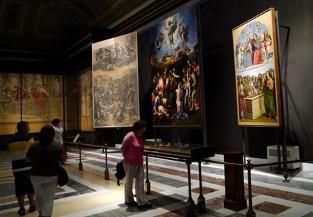 Řím, Itálie, říjen 2011 - malování Raphael Proměnění, v Vatikánského muzea