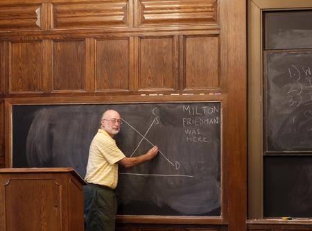 시카고, 미국, 2010 년 9 월 - 대학 교수 칠판에