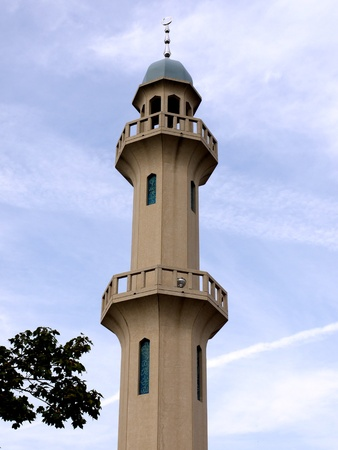 recently: Chicago, USA, September 2010 - minaret of recently constructed mosque