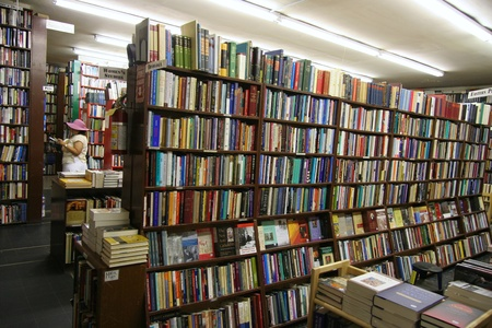 Chicago, USA, August 2006 - used book store with intellectual and scholarly books Editöryel