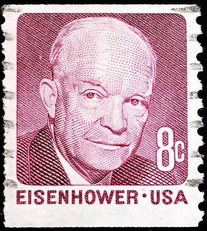 United States, 1971, postage stamp issued to commemorate President Dwight D. Eisenhower Stock Photo - 11185719