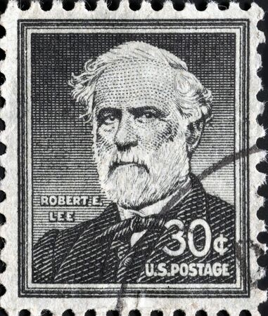 United States, 1957, postage stamp issued to honor Confederate General Robert E. Lee Stock Photo - 11185796