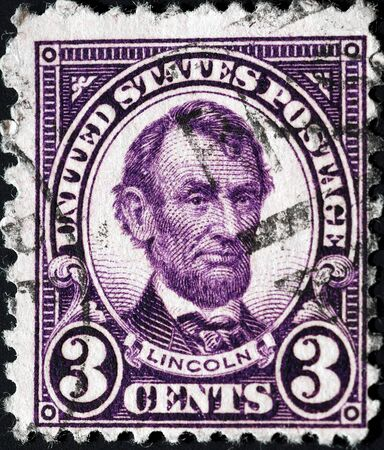 United States, 1925, postage stamp issued to honor President Abraham Lincoln Stock Photo - 11185797