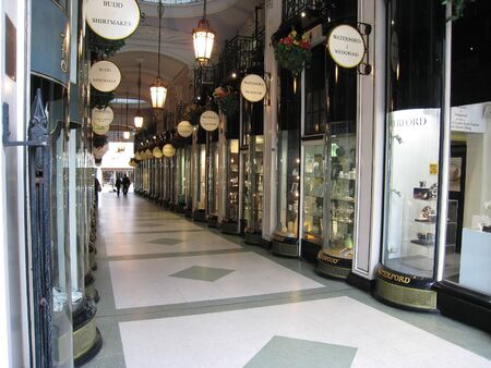 luxuries: London, England, May 2007 - shopping arcade with luxury goods Editorial