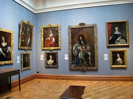 gallery interior: London, England, May 2007 - National Portrait Gallery with King Charles