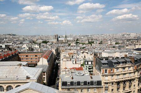 Paris, France, July 2009 - skyline of Paris