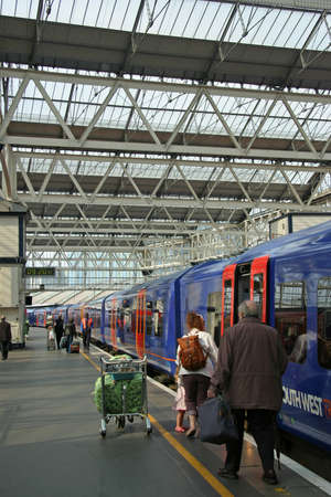 London, England, May 2007 - Waterloo Train Station Editorial