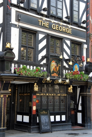 London, England, May 2007 - historic pub The George on the Strand Editorial