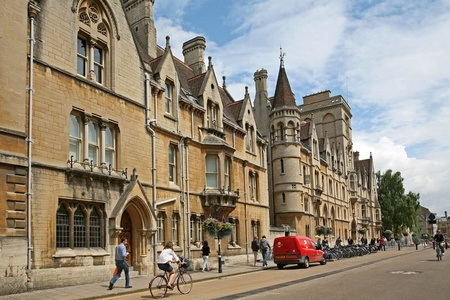 Oxford, England, July 2009 - Oxford University, Balliol College facing Broad Street