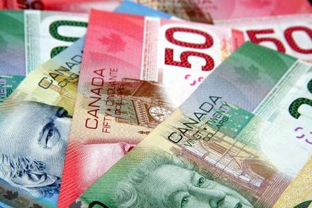 Ottawa, Canada, April 2012 - Canadian paper money