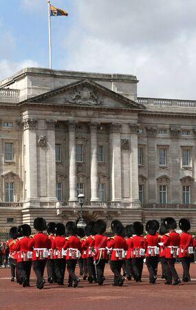 London, England - July  2009:  changin of the guard at Buckingham Palace