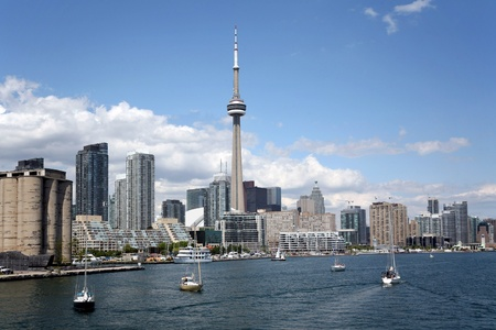 Toronto, Canada, August 2007 - waterfront and skyline Stock Photo - 13365003