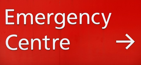 Hospital emergency entrance sign photo