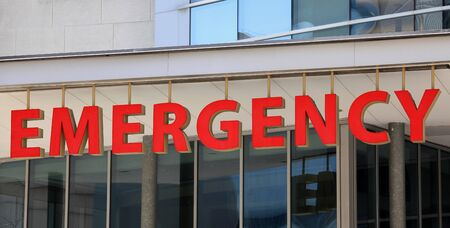 Hospital emergency entrance sign