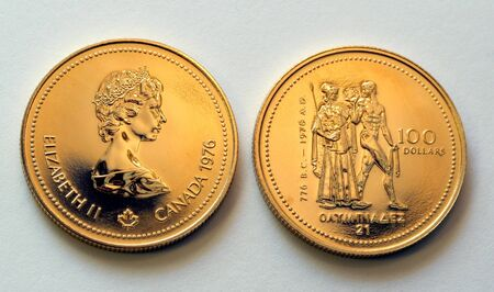 Canadian hundred dollar olympic gold coin