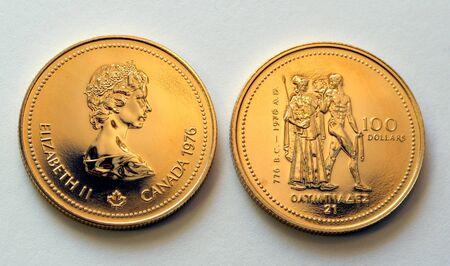 canadian dollar: Canadian hundred dollar olympic gold coin