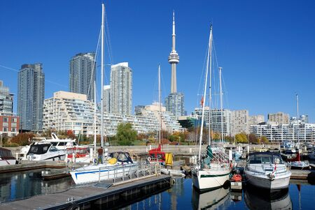 Toronto, Canada, August 2008 - waterfront and skyline Stock Photo - 13686099