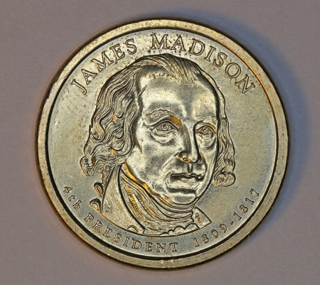 Washington, 2011, James Madison dollar coin Stock Photo - 14140389