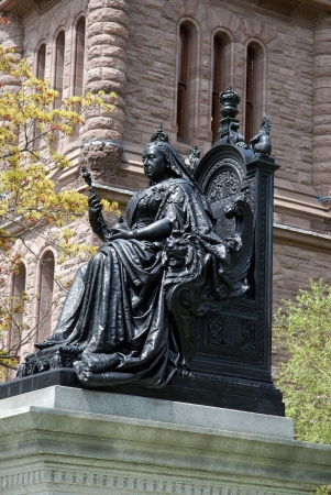sceptre: Toronto, Canada, August 2009 - statue of Queen Victoria Editorial
