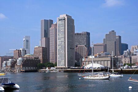 boston skyline: Boston, USA, May 2008 - skyline and harbor Editorial