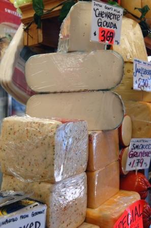 Toronto, Canada, August 2008 - gourmet cheese shop in Kensington Market Redakční