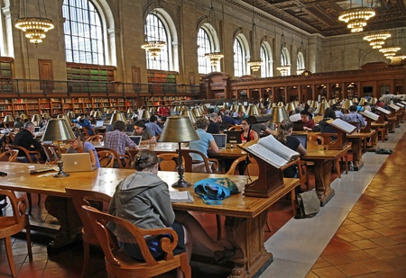 New York, June 2012, reading room of the Main Branch of the New York Public Library