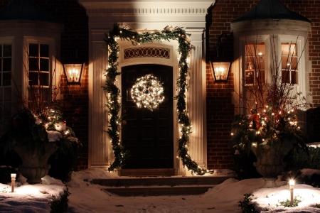 christmas house: Toronto, Canada, December 2010, house with Christmas lights