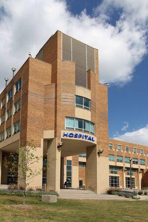 building entrance: Generic hospital building, Ontario, Canada, 2010