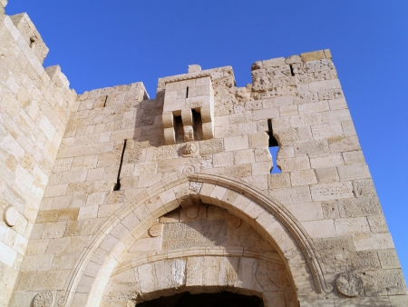 Jerusalem, Old City Wall, top of Jaffa Gate, 2011