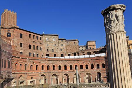 Rome, 2011, ruins of ancient forum of Trajan