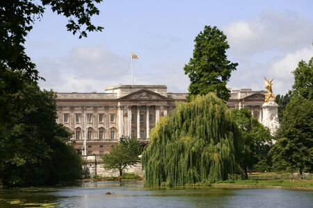 st jamess: London, England, Buckingham Palace from St. Jamess Park Editorial