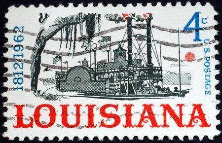 statehood: USA stamp, 1962, Louisiana statehood Editorial