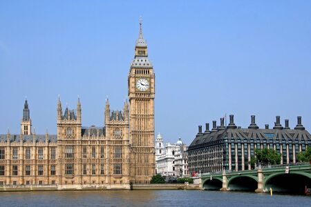 London, England, Parliament Building and Big Ben, 2007 Stock Photo - 18740147