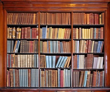 caoba: estantes de la biblioteca del wth de libros antiguos, Chicago, 2009 Editorial
