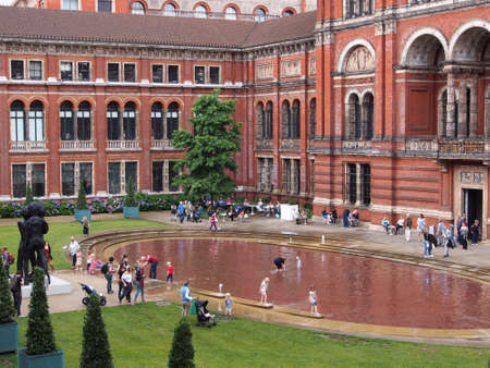 Courtyard of the Victoria and Albert Museum, London, 2013