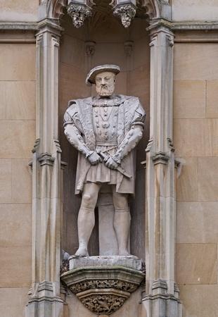 viii: King Henry VIII, exterior of Kings College, Cambridge University