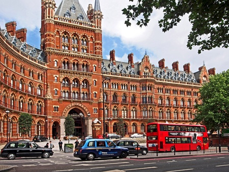 pancras: London, St  Pancras railway station hotel, 2013 Editorial