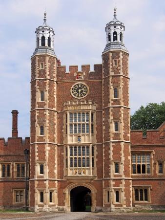clocktower: Eton College, Clocktower with entrance arch, 2013