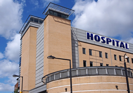 modern hospital: modern hospital building, Toronto, 2013
