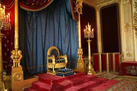 Throne of Napoleon, Fontainebleau Palace, France, 2009